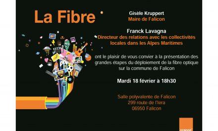 Réunion publique sur le déploiement de la fibre optique à Falicon