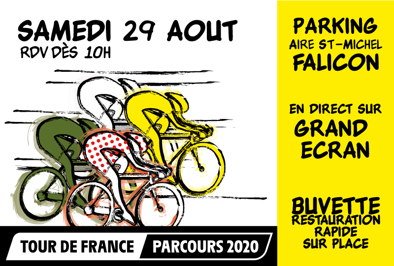 Passage du Tour de France 2020 à Falicon